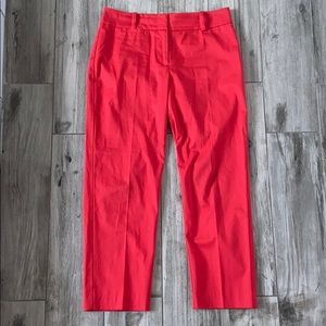 ANN TAYLOR Women's Signature Cropped Pants Red 2